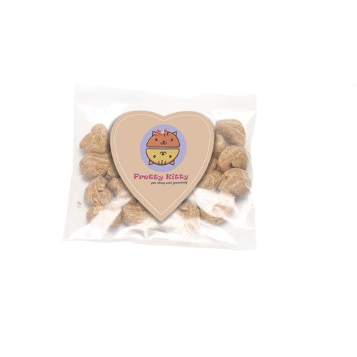 Cat Treats with Custom Heart Shaped Magnet