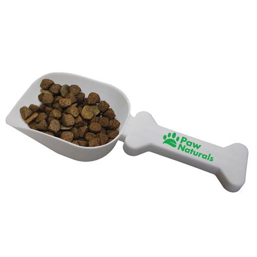 Pet Food Scoop with Custom Printed Bone Shaped Handle