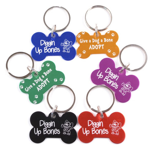 Bone Shaped Dog Collar Tag with Custom Imprint