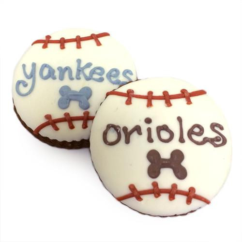 Baseball Dog Treats, Customized