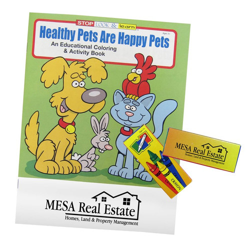 Healthy Pets are Happy Pets Promotional Coloring Book Fun Packs