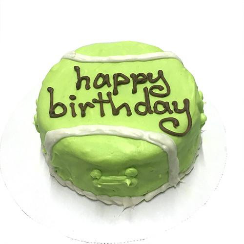 Customized Tennis Ball Birthday Cakes for Dogs - Organic