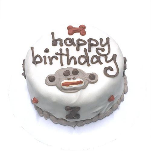 Customized Birthday Cakes for Dogs Sock Monkey Organic Dog Treats