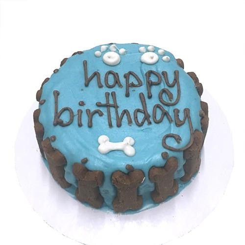 Customized Dog Birthday Cake Blue Organic Dog Treats