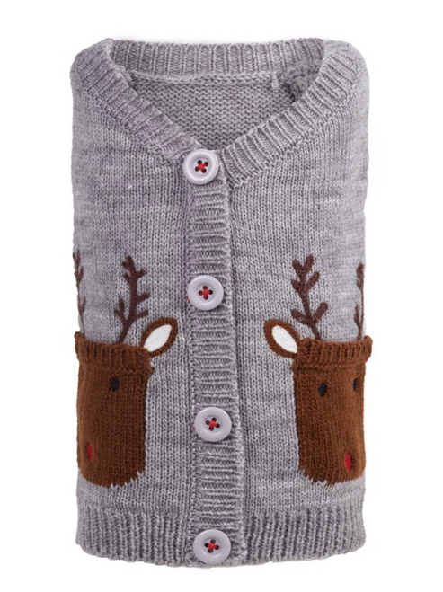 Cardigan Sweater for Dogs, Reindeer