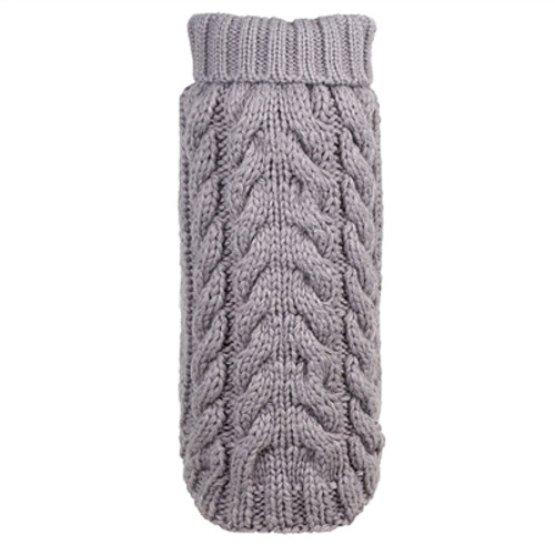 Hand Knit Turtleneck Sweater for Dogs, Gray