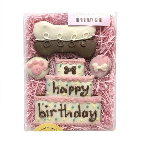 Happy Birthday Dog Cookie Gift Box (Girl)