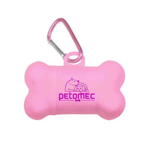 Bone Waste Bag Dispenser - Pink