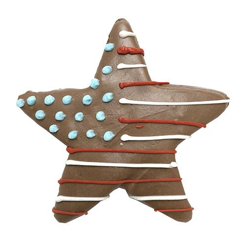 Patriotic Star Dog Cookies (Case of 8 Treats)