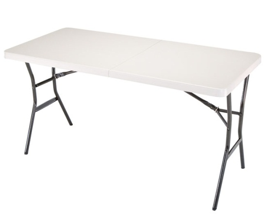5 bi fold display table with carry handle
