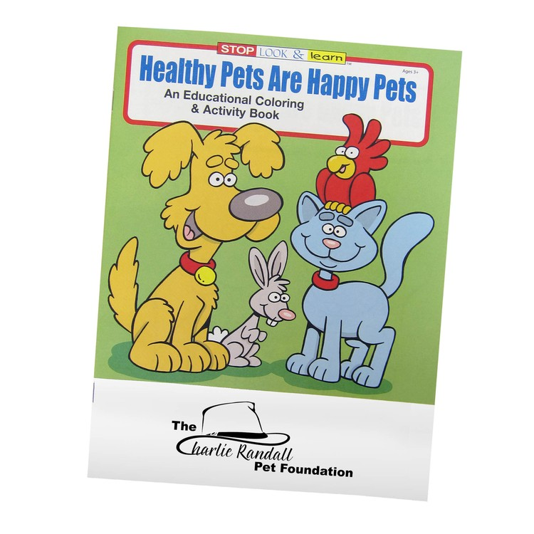 Health, Happy Pets Coloring Book | Promotional Pet Products