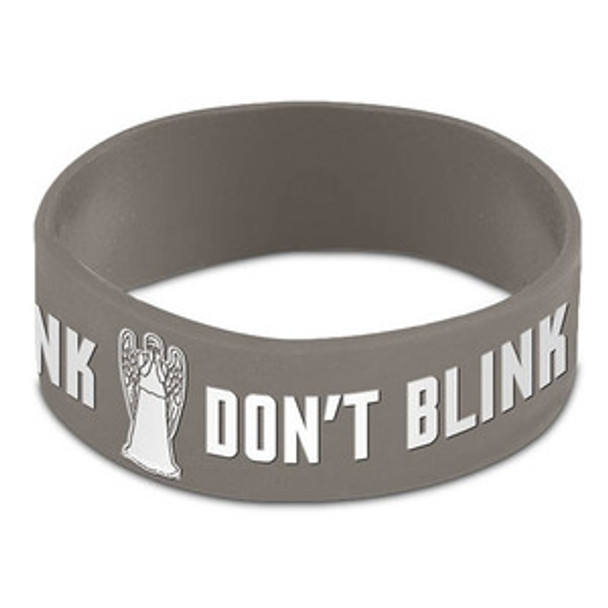 Doctor Who Weeping Angel Don't Blink Gray Rubber Wristband