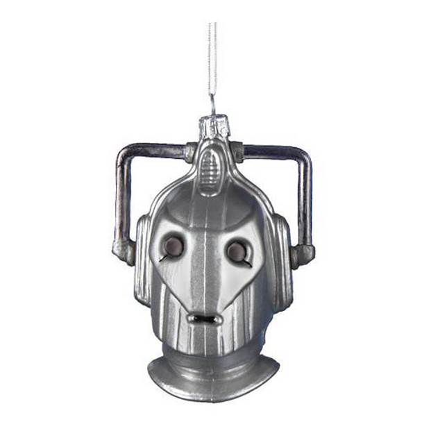 Doctor Who Kurt Adler Glass Cybermen Ornament, 4.25-Inch