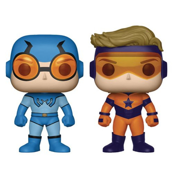 DC Comics Booster Gold and Blue Beetle Pop! Vinyl Figure 2-Pack - Previews Exclusive