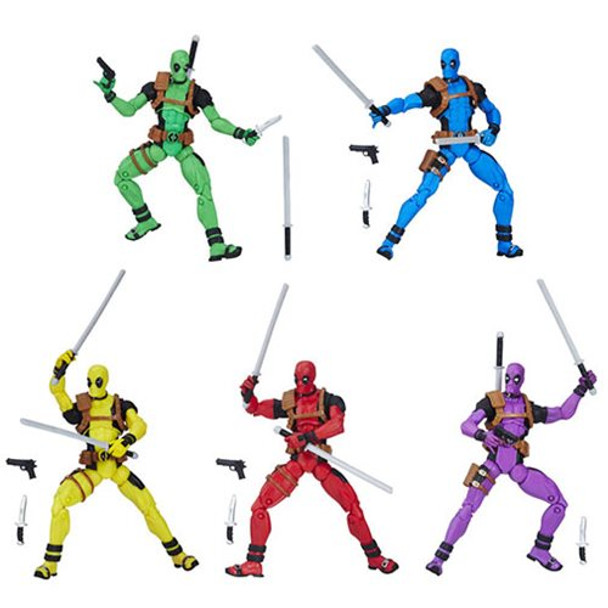 Marvel Legends Deadpool's Rainbow Squad 5-Pack 3 3/4-Inch Action Figures