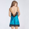 Black Blue Rose Elegant S-Xxl Lace  Nightgownss W46249