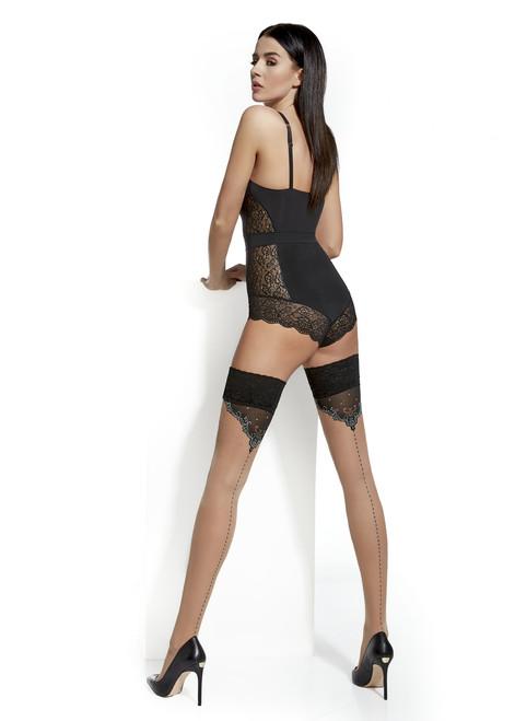 Cassandra Patterned Hold Ups Stockings #4