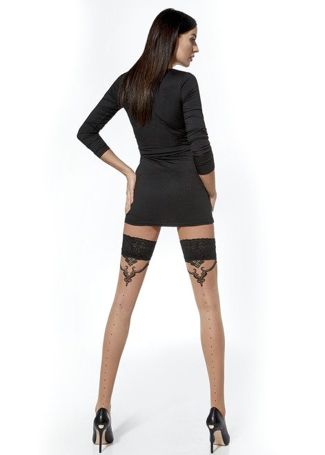 Dominique  Patterned Hold Ups #5