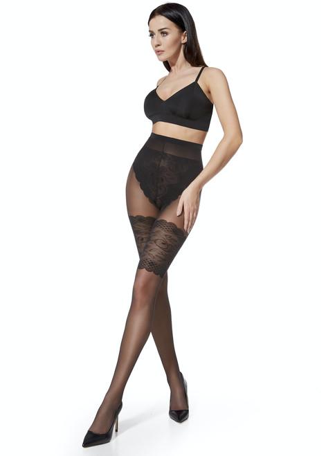 Mylene Patterned Tights High Panties #8