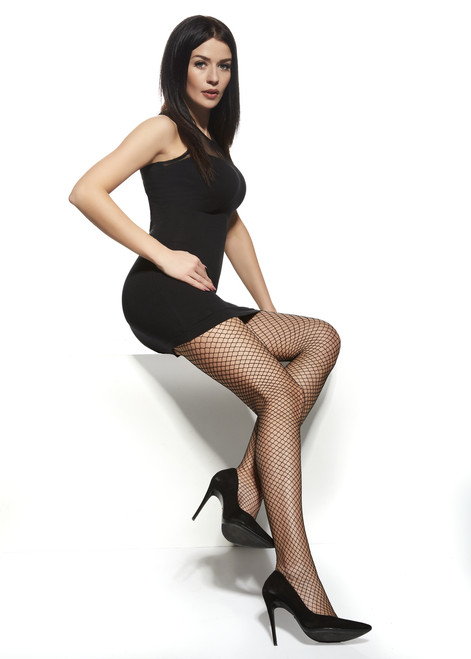 AfrodytaPatterned Tights with Fishnet #10