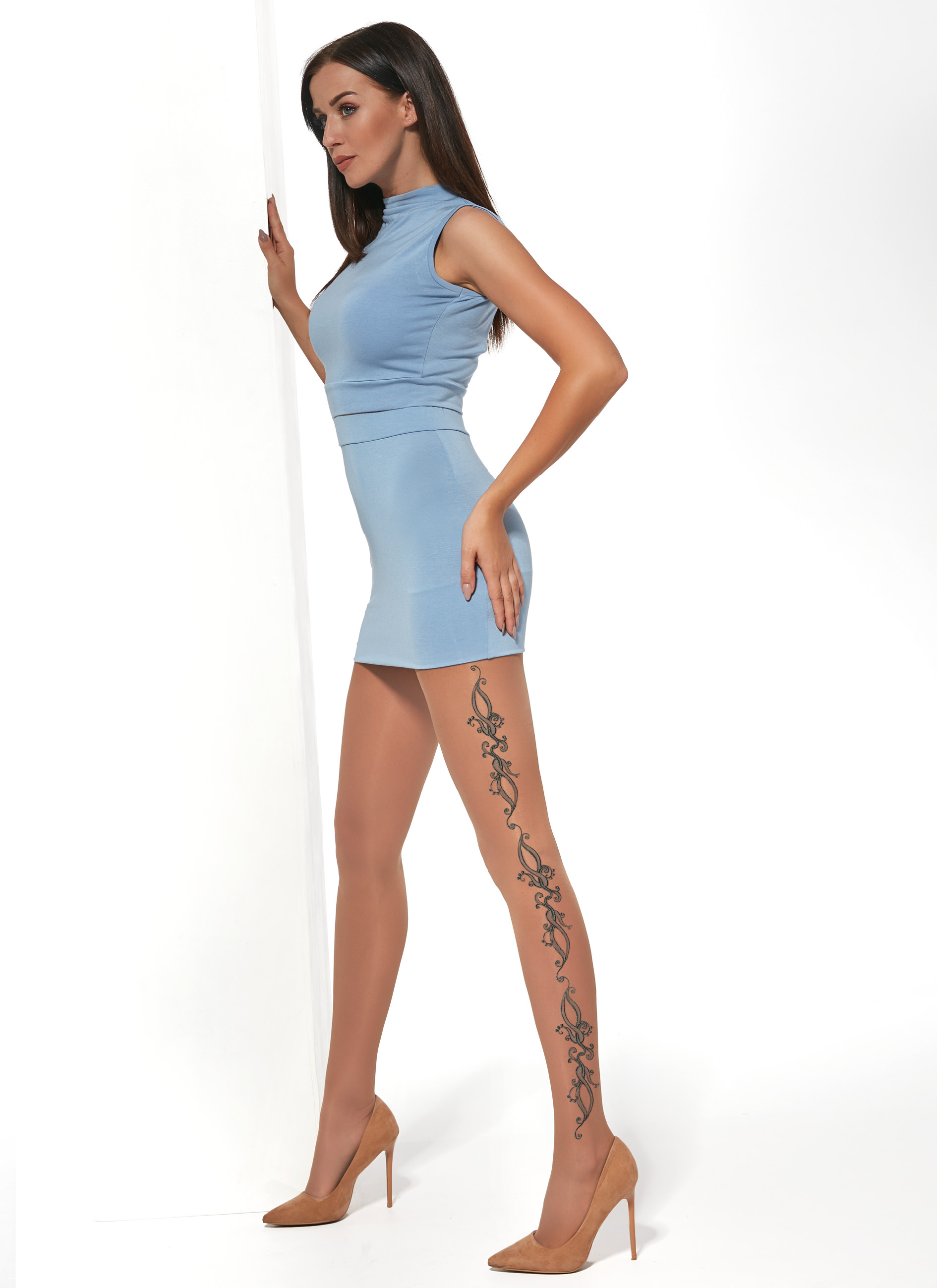 Adrian Patterned Tights