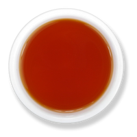 Clementine Sunset loose leaf herbal tea brew from The Jasmine Pearl Tea Co.