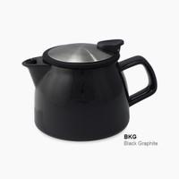 ForLife Bell Ceramic Teapot in Black Graphite