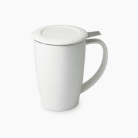 FORLIFE Curve Tall Tea Mug with Infuser in White