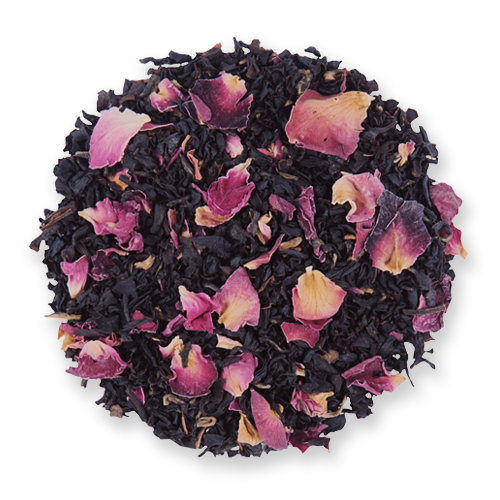 Vanilla Rose loose leaf black tea blend from The Jasmine Pearl Tea Co.