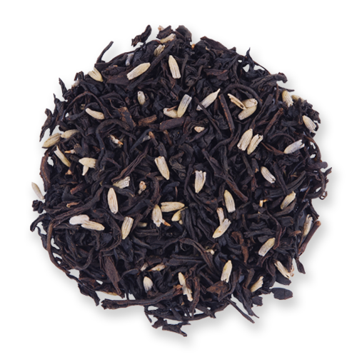 Earl Grey Lavender black loose leaf tea from The Jasmine Pearl Tea Co.