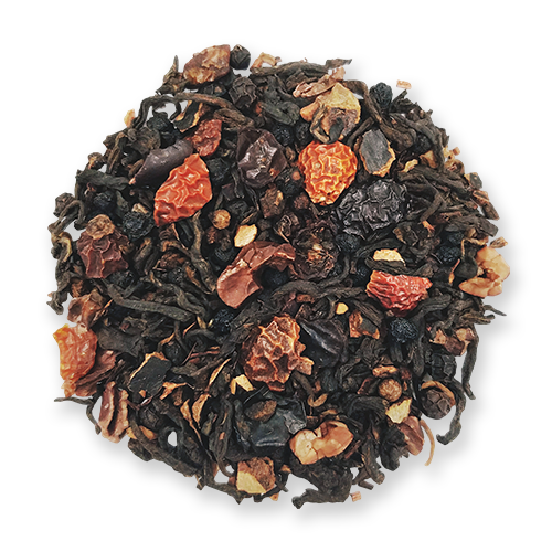 Black Wolf loose leaf puerh and black tea blend from The Jasmine Pearl Tea Co.