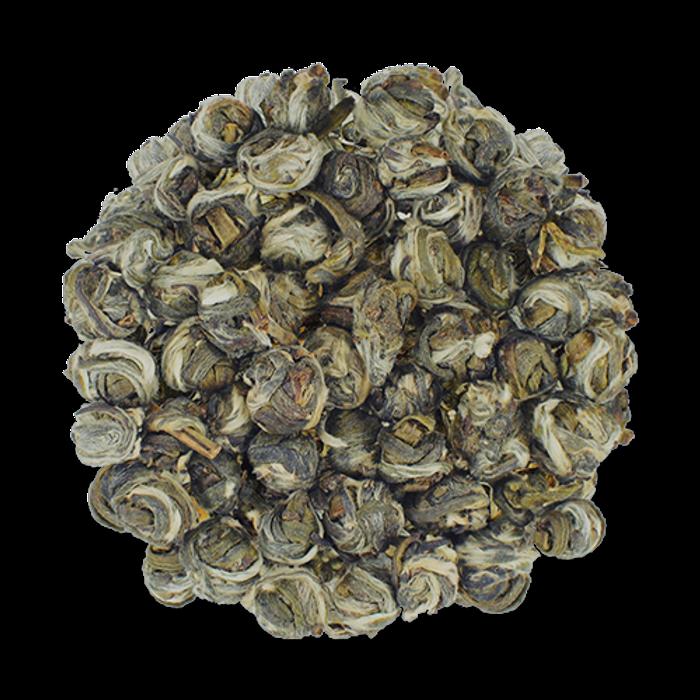Jasmine Pearls loose leaf green tea from The Jasmine Pearl Tea Co.