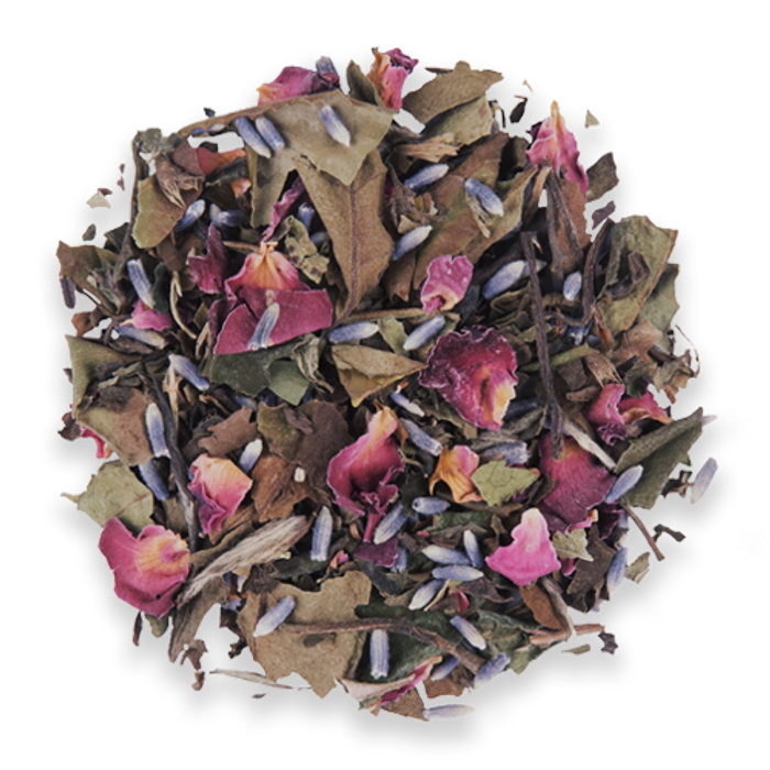 Lavender Rose loose leaf white tea from The Jasmine Pearl Tea Co.