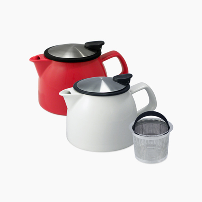 ForLife Bell Ceramic Teapots in Red and White