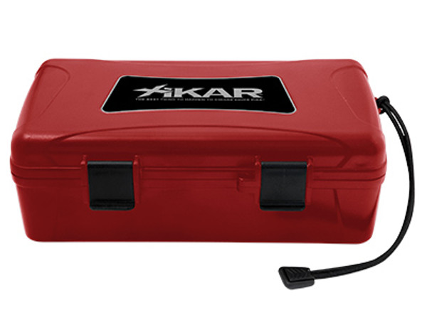 XIKAR Travel Humidors: Red - 10 Count