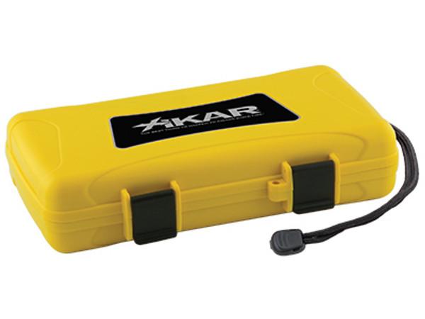 XIKAR Travel Humidors: Yellow - 5 Count