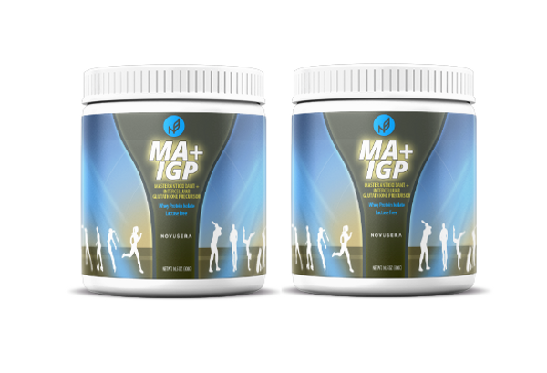 """Nature's """"Master Antioxidant"""" and high-grade bio-active whey protein - a month supply for 2 adults."""