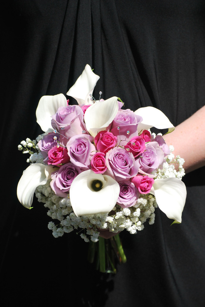 129.98 All Calla and Roses