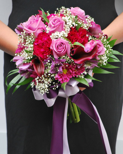 delux 5 rose mixed bouquet
