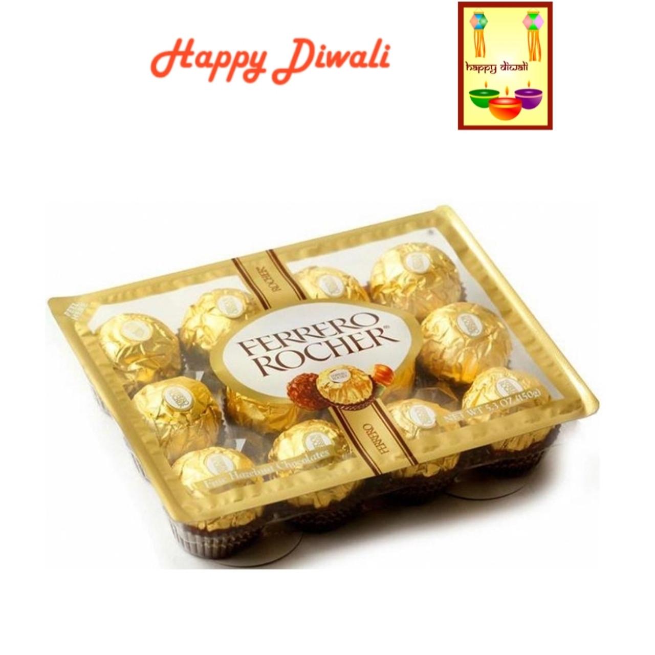 Diwali Chocolates Ferrero Rocher Chocolates With Diwali Greeting Card