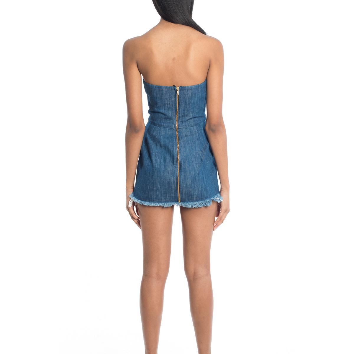 Chaka Denim Fringe Dress