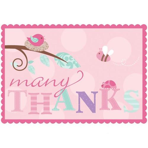Tweet Baby Girl Thank You Cards 8