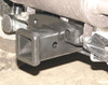 """Rear 2"""" receiver Hitch, installed, viewed from side/rear"""