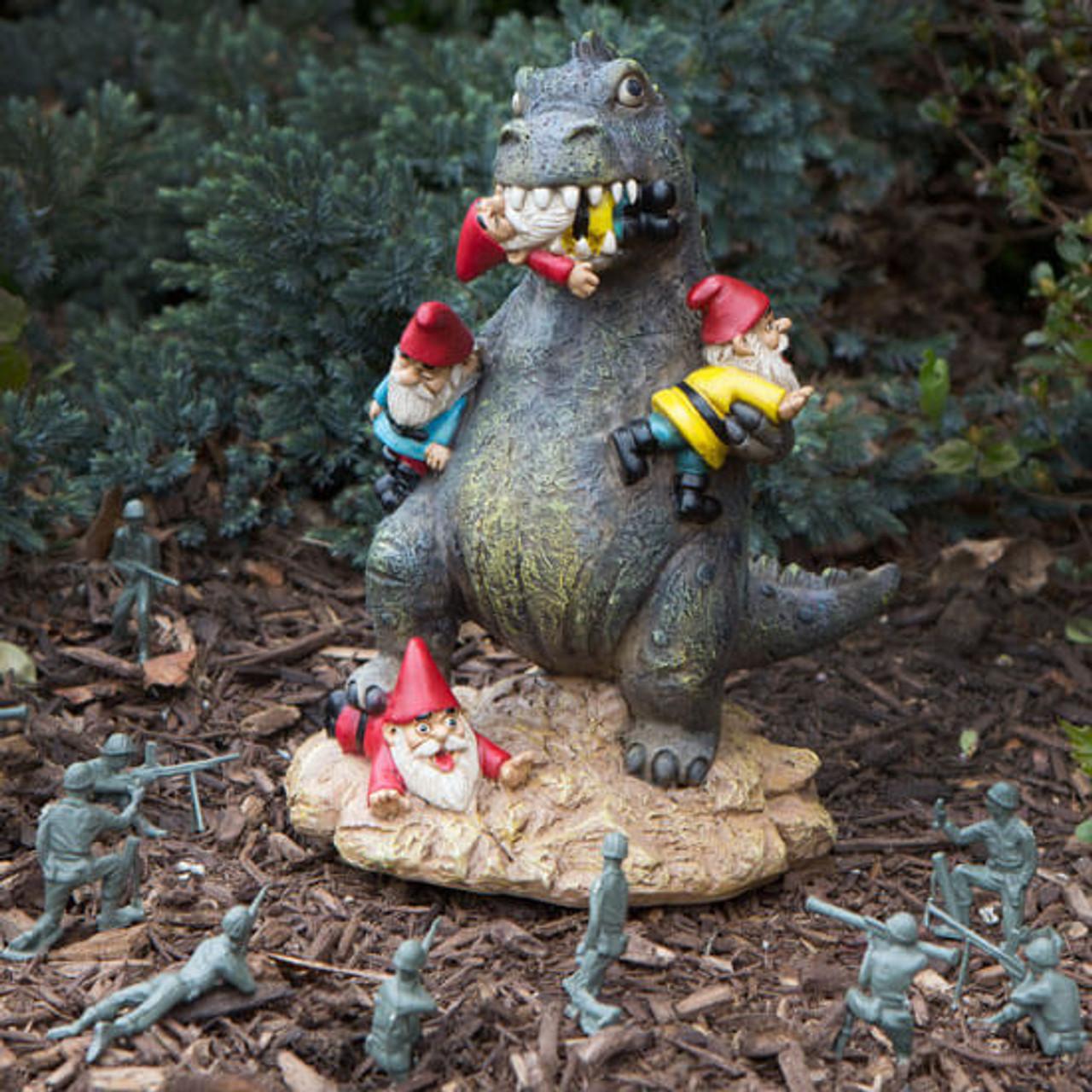 Gnome In Garden: The Great Garden Gnome Massacre In Creative Gnomes + Yard