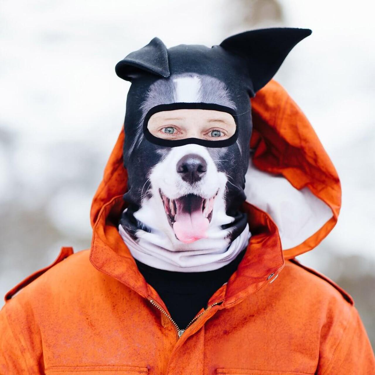 BEARDO TOTALLY FETCHING COLLIE DOG WINTER SKI MASK