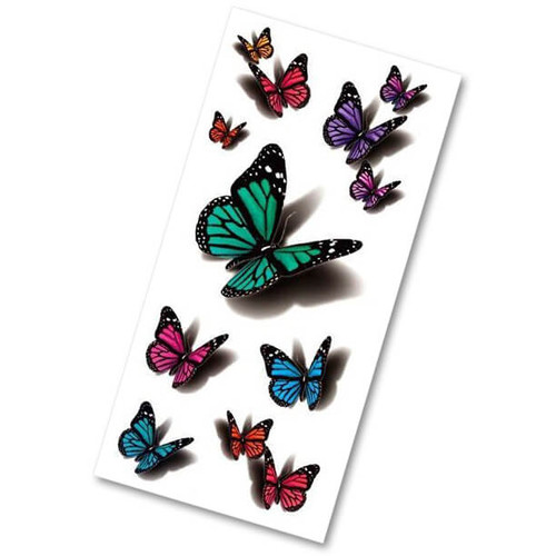 3D BUTTERFLY TEMPORARY TATTOOS