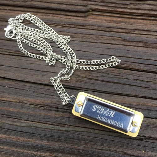 Harmonica Necklace: Mini Genuine Harmonica Necklace In Specialty Jewelry Gifts By