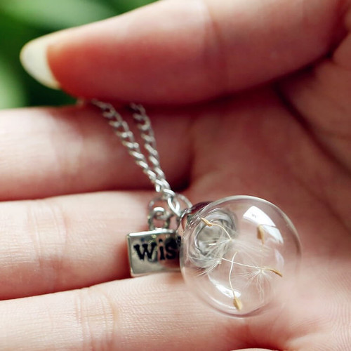 GLOBAL WISHES DANDELION NECKLACE