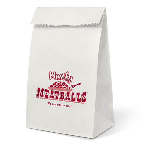 MOSTLY MEATBALLS PAPER LUNCH BAG