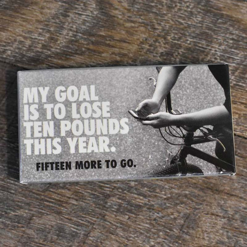 MY GOAL IS TO LOSE TEN POUNDS THIS YEAR GUM